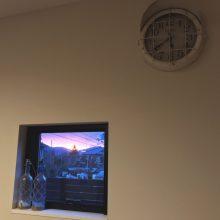 夕陽を飾る小窓