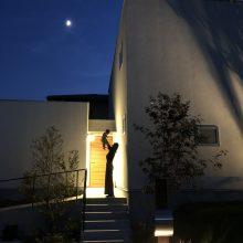 月明かり+息子+私+家