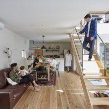 プライベートな空間も確保した二世帯で暮らす家。1