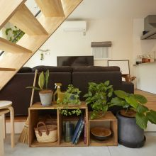 プライベート感のある和室をプラスした家。2