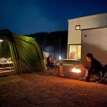 まるでキャンプ場。