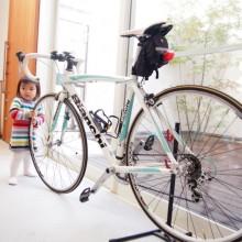 土間とバイクと娘。