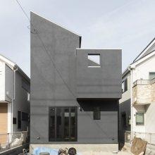 和テイストミックスの黒いハコの家0